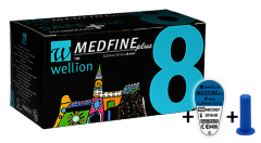 Купить Голки для інсулінових шприц-ручок Wellion MEDFINE plus 0.25 mm (31G) x 8 мм, 100 шт в Киеве и Украине
